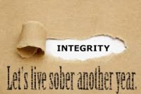 Integrity - let's live sober another year