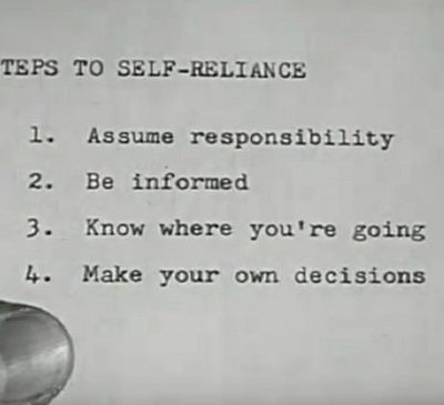 Self-Sufficiency, Independence and Recovery