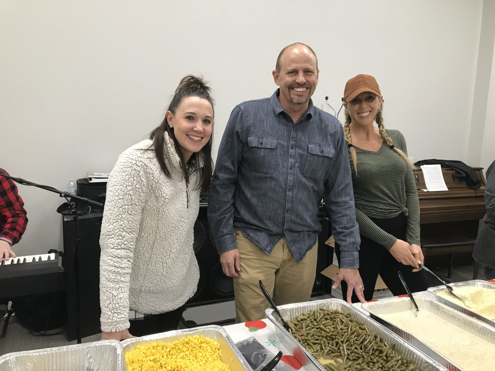 serving food at SONTX 2019 Christmas Party - Solutions of North Texas - Denton County Sober Living